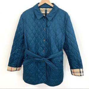 BURBERRY Nova Check Lined Belted Quilted Jacket